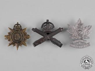 Canada. A Lot of Three First War Era Cap Badges