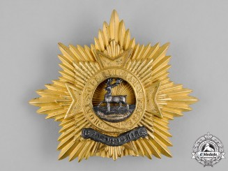 United Kingdom. A Bedfordshire Regiment Helmet Plate