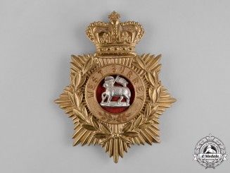 United Kingdom. A Victorian The Queen's Own Royal Regiment (West Surrey) Officer's Helmet Plate