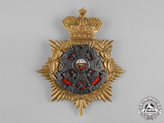 United Kingdom. A Victorian The Border Regiment Officer's Home Service Helmet Plate