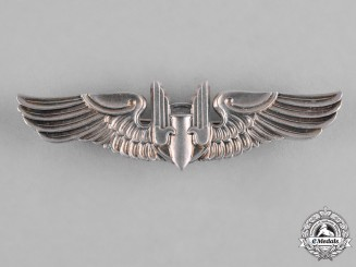 United States. An Army Air Force Aerial Gunner Badge, Reduced Size, by Balfour