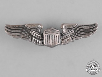 United States. An Army Air Force Pilot Badge, Reduced Size, by N.S. Meyer