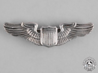 United States. An Army Air Force Pilot Badge, Reduced Size, by N.S.Meyer