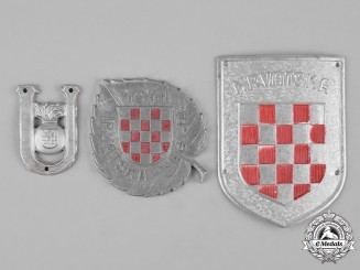 Croatia, Independent State. A Lot of Three Second War Badges