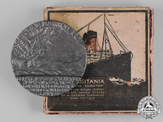 United Kingdom. A Boxed Lusitania Medallion