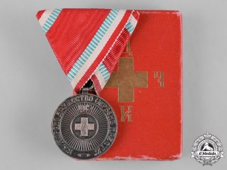 Bulgaria, Kingdom. A Red Cross Medal, I Class Silver Grade