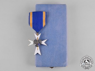 Estonia, Republic. A White Cross of the Home Guard, III Class with Case, by Roman Tavast