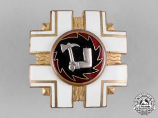 Estonia, Republic. A Graduation Badge of the Fire Service School, by Metallmark