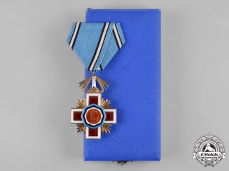 Estonia, Republic. An Order of the Estonian Red Cross, V Class with Case, by Roman Tavast