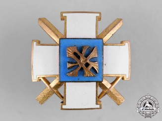 Estonia, Republic. A Military Academy Graduate Badge by Roman Tavast