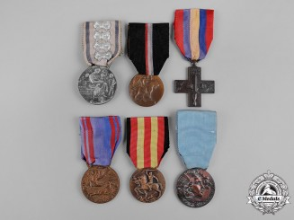 Italy, Kingdom, Republic. Lot of Six Medals & Awards