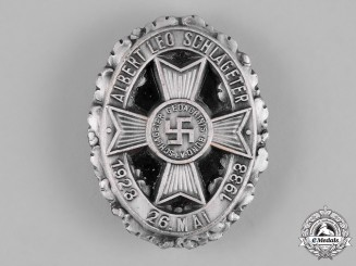 Germany, Third Reich. A Leo Schlageter Memorial Society Badge by Rudolf Wächtler & Lange