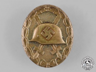 Germany, Wehrmacht. A Wound Badge in Gold, by Funcke & Brüninghaus