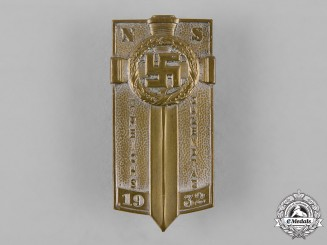 Germany, NSDAP. A 1932 Reich Youth Day Badge by Ferdinand Hoffstätter