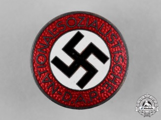 Germany, NSDAP. A Membership Badge by Fritz Zimmermann