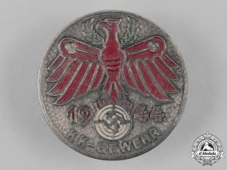 Germany, Third Reich. A 1944 Tirol Small Calibre Shooting Badge by Carl Poellath