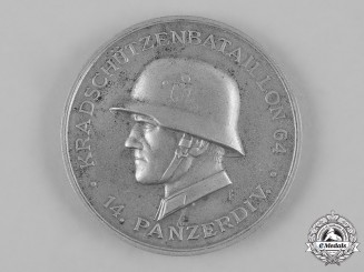 Germany, Heer. A 14th Panzer Division Motorcycle Battalion Medal by Rudolf Karneth & Söhne
