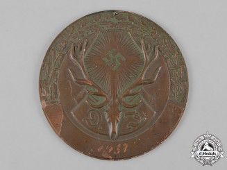 Germany, Deutscher Jagdverband. A 1937 German Hunting Association (Deutscher Jagdverband) Medal