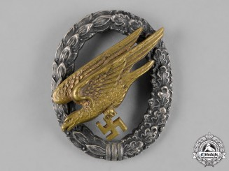 Germany, Luftwaffe. A Fallschirmjäger Badge by C.E. Juncker