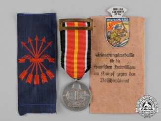Germany, Wehrmacht. A Lot of Decorations and Insignia to a Spanish Blue Division Volunteer