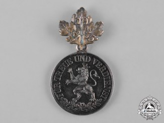 Schwarzburg-Rudolstadt, Principality. A Silver Honour Medal with Oakleaves