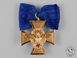 Germany, Ordnungspolizei. A Police 25-Year Long Service Cross
