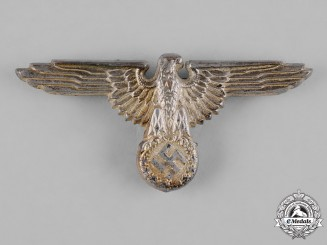 Germany, SS. A Waffen-SS Visor Cap Eagle by Ferdinand Wagner