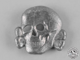 Germany, SS. A SS Skull Cap Insignia, Second Pattern, by Assmann