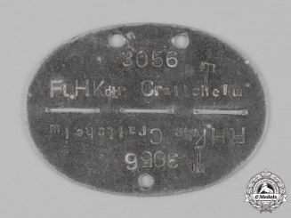 Germany, Luftwaffe. A Fliegerhorst-Kommandatur Crailsheim Identification Tag