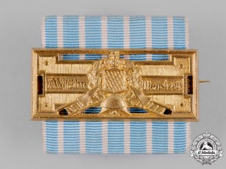 Bavaria, Kingdom. A Fire Brigade Honour Clasp for 25 Years of Service by Weiss & Co.