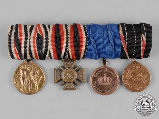 Germany, Imperial. A Miniature Medal Bar