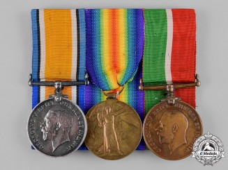 United Kingdom. A Mercantile Marine Trio, to Trimmer Herbert Hewitt, Royal Naval Reserve