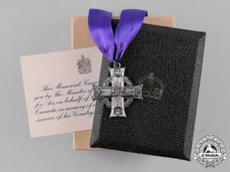 Canada. A Memorial Cross, RCAF 115 (RAF) Squadron, KIA February 13, 1943