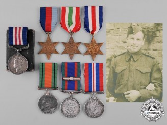 Canada. A Military Medal to Gunner James Young, RCA who Landed at Cesenatico 1944