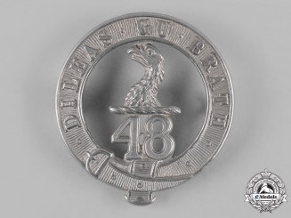 Canada. A 48th Highlanders of Canada Glengarry Badge, c.1898