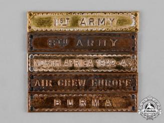 United Kingdom. A Lot of Five Second War Star Clasps