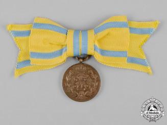 Saxony, Kingdom. A Friedrich August Medal in Bronze, Women's Version
