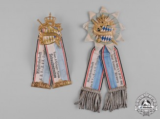 Bavaria, Kingdom. A Pair of Veterans Association Membership Badges