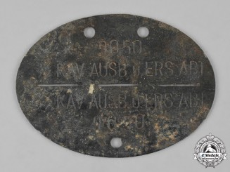 Germany, SS. A SS Cavalry Training and Replacement Battalion Identification Disc