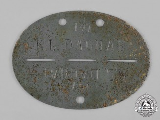 Germany, Third Reich. A Dachau Identification Disc