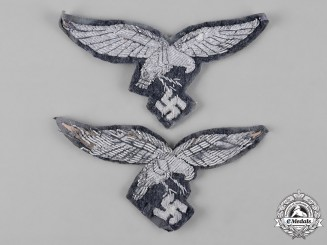 Germany, Luftwaffe. A Pair of Officers' Breast Eagles