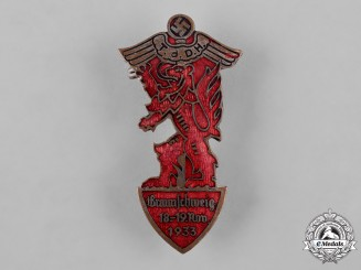 Germany, Third Reich. A 1933 Day of German Crafts Badge by Carl Poellath