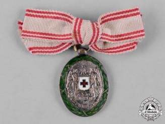 Austria, Imperial. An Austrian Women's Red Cross Lapel Badge
