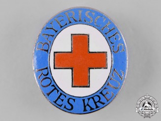 Germany, Weimar. A Bavarian Red Cross Badge by Carl Poellath