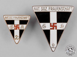 Germany, NS-Frauenschaft. A Pair of National Socialist Women's League Membership Badges
