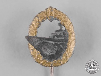 Germany, Kriegsmarine. A Destroyer War Badge Stick Pin