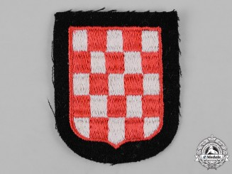 Germany, Waffen-SS. A Mint and Unissued Waffen-SS Croatian Volunteer Sleeve Patch