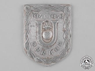 Croatia, Independent State. A Ustasha Defence Badge, c.1942
