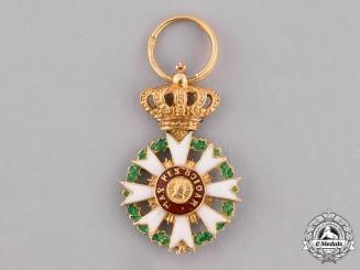 Bavaria, Kingdom. A Miniature Order of Merit of the Crown in Gold, Knight's Cross, c.1900