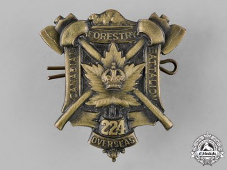 Canada. A First War 224th Infantry Battalion Cap Badge